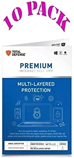 Total Defense 10 Pack Premium Internet Security - Protect Everyone on Every Device, Key Card