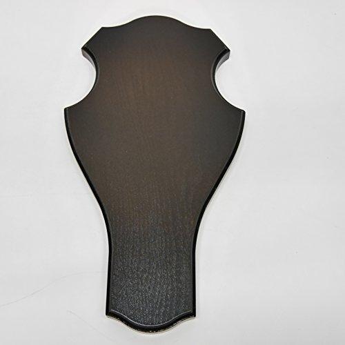 Trofeo Cartel, dureza para grandes ciervos en roble oscuro, altura 39cm