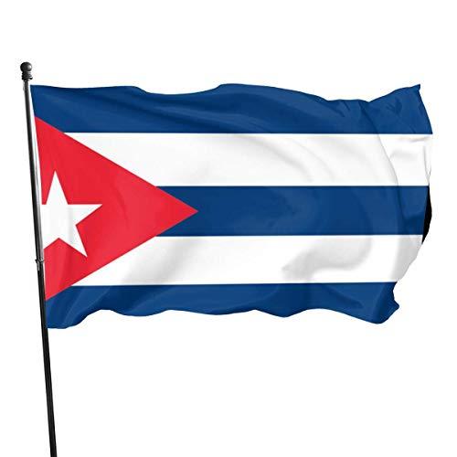 GYUB Cuba Flag 3x5 Fuß Amerikanische US-Polyester-Flagge - Lebendige Farbe und UV-lichtbeständig - Leinwandkopf