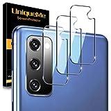 [3 Pack] UniqueMe Protector de Lente de cámara para Samsung Galaxy S20 FE, Protector de Pantalla [9H Dureza ] [Sin Burbujas] HD Cristal Vidrio Templado para Samsung Galaxy S20 FE