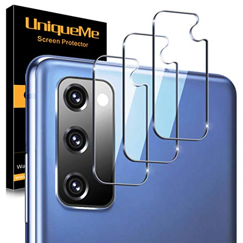 [3 Pack] UnqiueMe Panzerglas Kamera Kompatibel mit Samsung Galaxy S20 FE Kamera Schutzfolie Linse, Rücklichtfolie [Blasenfrei] HD klar Folie gehärtetes Glas