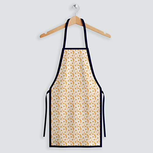 Aqkua Apron.100% Soft Poly Fashion Design.Adjustable Neck Strap,Long Ties.High resolution Colors Excellent Quality.Cute Aprons for Christmas,Cooking & Life Style.Proud to be Made in USA
