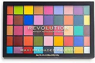 Makeup Revolution Maxi Reloaded Eyeshadow Palette Monster Mattes, Matte Shades Compact Palette, Eye Makeup, 45 Shades
