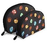 Bolsa de belleza cosmética, colorida seta práctica bolsa de maquillaje de embrague para mujeres y niñas
