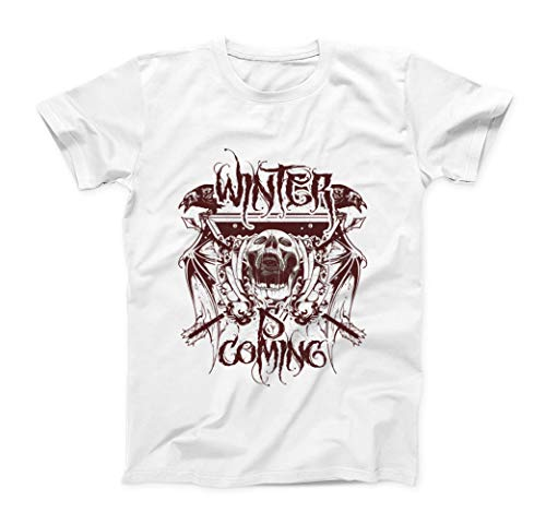 Winter Is Coming Screaming Skull Logo T-Shirt - Hombre - Blanco - M
