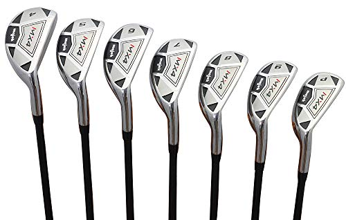 "Men's Majek MX4 Hybrid Iron Set, which Includes: #4, 5, 6, 7, 8, 9, PW Senior Flex Right Handed Utility ""A"" Flex Clubs"