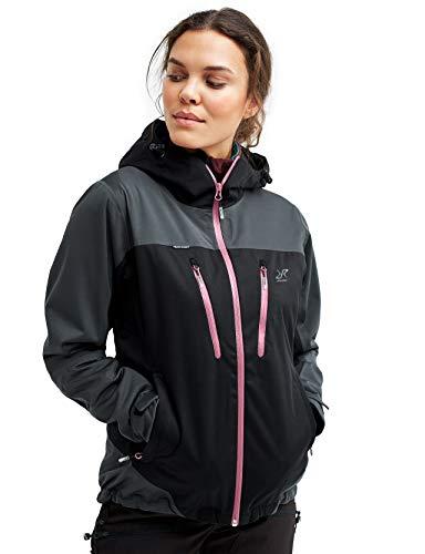 RevolutionRace Silence Proshell Jacket, Damenjacke, belüftete und wasserdichte Jacke für Wanderungen und andere Outdoor-Aktivitäten, Black, L
