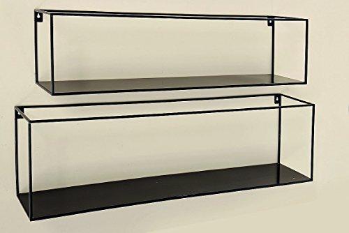 Boltze Gruppe GmbH Wand-Regal Franco S/2 L70-78cm Eisen pulverbeschichtet