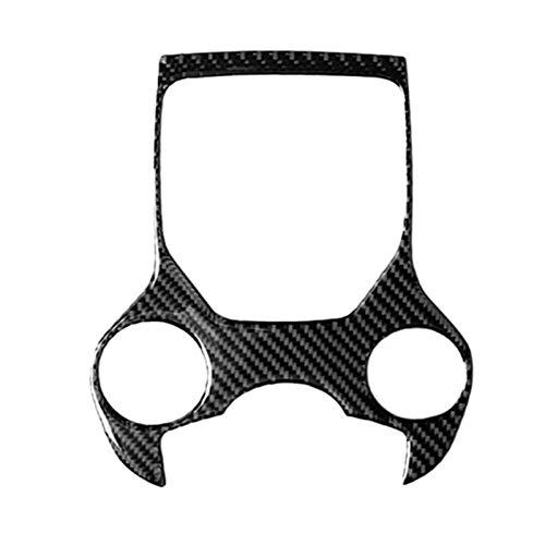 Ruderude Ajuste para Alfa Romeo Giulia STELVIO 17-19 Panel de cambios de engranaje de fibra de carbono Multimedia Botones Multimedia Marco Etiqueta de entrada interior Decoración ( Color : Black )