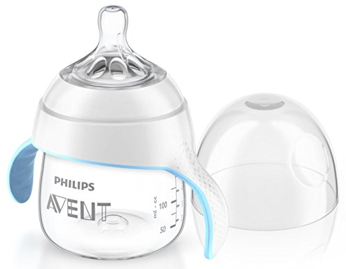 Philips AVENT SCF251/00 Naturnah Trainer Cup, 4 Monate+, transparent/hellblau, 150 ml