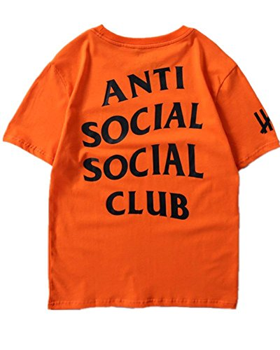 Unisex Hip Hop Mode Anti Social Social Club T-Shirt Sweat Tee Style Tee (Gelb, L)