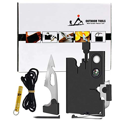 Upgraded Credit Card Tool Knife Set,18 In 1 Wallet Knife Multitool Gift Set For Men,Surivial Pocket Tool Kit Wallet Tool,Gifts For Men Dad Husband Boyfriend Outdoor