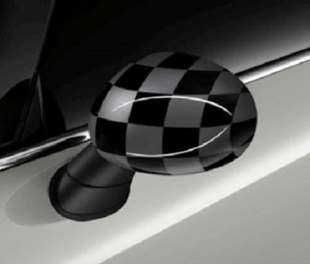Original MINI Außenspiegelkappen Checkered Flag Black/Grey für MINI F55 F56 F57