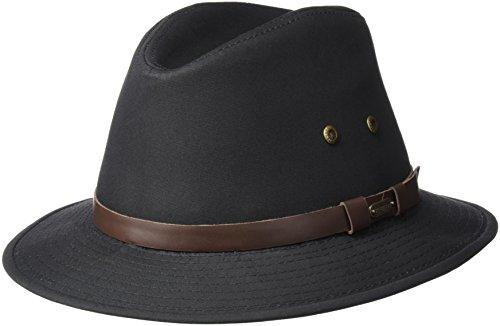 Stetson Men's Gable Rain Safari Hat, Black, X-Large -  STC61-BLK