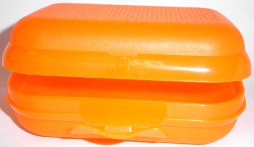 1a TUPPER A26 Schulbrotdose 1x TWIN - 13 x 10 x 5 cm - orange