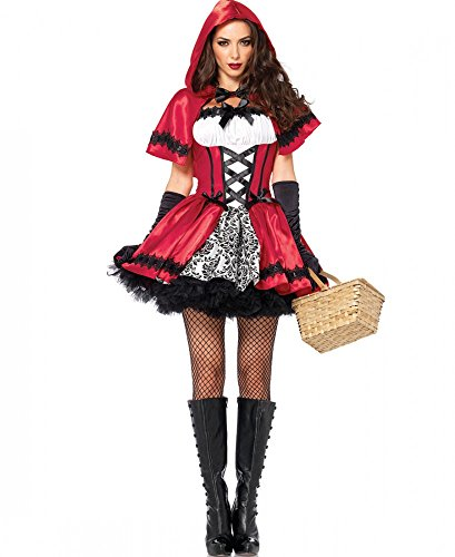 Leg Avenue Viña llisches Caperucita Roja Disfraz para Mujer Gótico Red Riding Hood