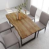 vidaXL Madera Maciza Acacia Mesa de Comedor Consola Extensible Cocina Muebles Decorativo Hogar Multiusos Auxiliar Salón Sala de Estar