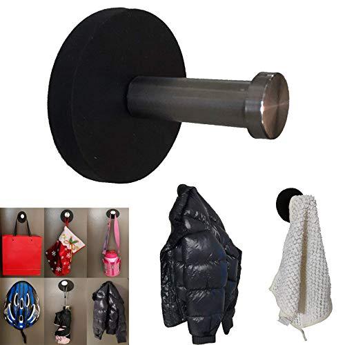 Magnetischer Kleiderhaken, Schlüsselhalter, Handtuchhaken, starker Magnet zum Aufhängen für Tasche, Mantel, Regenschirme, Schals, Spielzeug, Handtücher, Helm usw. - Keine Kratzer – hält bis zu 2,7 kg