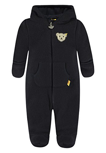 Steiff Baby-Mädchen Overall 1/1 Arm Fleece Schneeanzug, Blau (Marine|Blue 3032), 62
