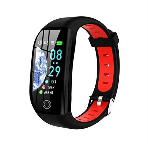 DAJUZI F21 Smart Bracelet GPS Activity Tracker Blood Pressure Heart Rate Monitor Men Sport Watch For iOS Android Women WristbandBlack Red