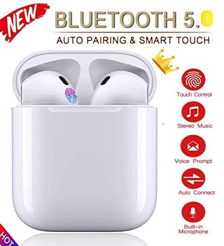Bluetooth 5.0 TWS i12 Auricular táctil Inteligente Auricular de música estéreo 3D inalámbrico con conexión IPX7 a Prueba de Agua y emparejamiento automático