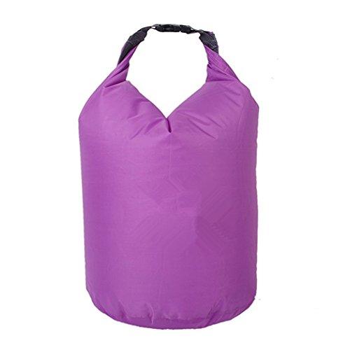 Yeah67886 20L extérieur Poids léger à la poussière Sports Dry Bag Pouch pour l'escalade le Bateau de pêche Rafting (Violet)