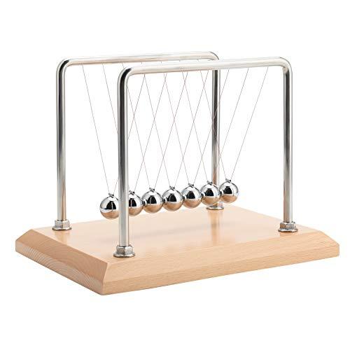 CERROPI 7 Balls Newton's Cradle -10.1 Inch, Beech Base