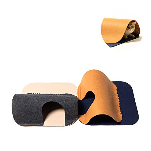 pidan Cat Tunnels for Indoor Cats Play Mat Cat Toy Activity Rug Toy Exercise Felt Material Random Combinations and Infinite Extension(2 PCS)