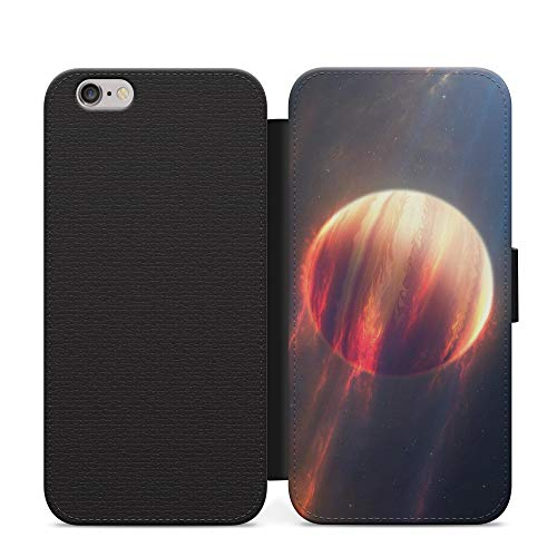 Birth of Planet Mars Sun Star Galaxy Leather Flip Phone Case Cover with Card Wallet For Samsung S9 Plus