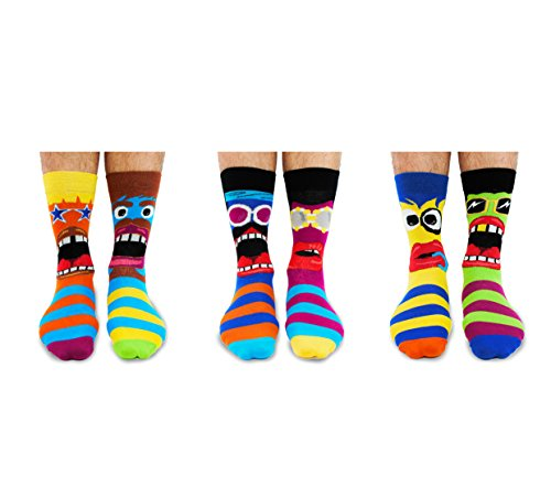 De La Marca United Oddsocks - Caja De Regalo 6 x Calcetines Desparejados Para Hombre (Funk You) EU 39-46 Multicolor