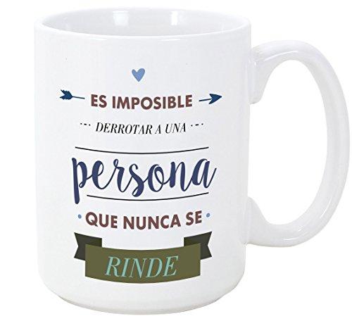 MUGFFINS Tazas Desayuno Originales con Frases motivadoras - Es Imposible derrotar a...