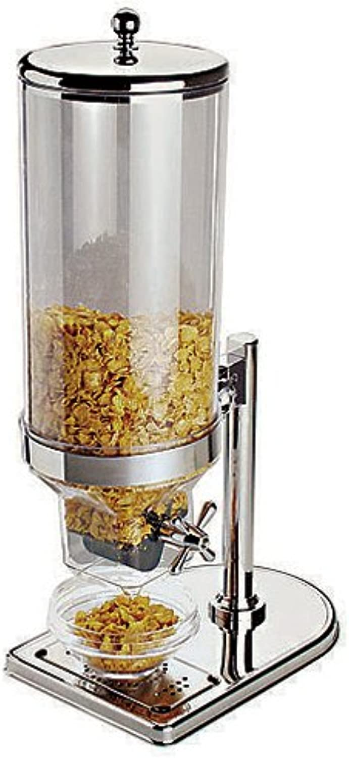 APS Paderno World Cuisine 8.5 Quart Polypropylene Cereal Dispenser with Stainless Steel Lid