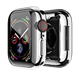 Sakula Apple Watch 対応 ケース TPU メッキ加工 耐衝撃性 超薄 フルカバー Apple Watch Series 6/SE/5/4 40mm 対応 カバー シルバー