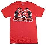 Disney Minnie Mouse Womens Plus Size Grandma T-Shirt (3XL, Red)