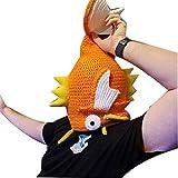 TBATM Baby Viking Knit Hat Beanie Hat Halloween Personalidad Divertida Creativa Forma De Koi Adulto Pulver Sombrero,Multi Colored,Adult