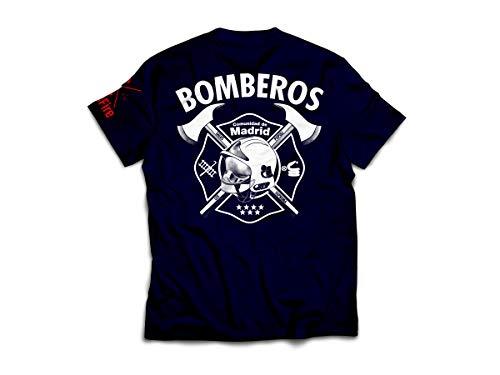 CrossFire Camiseta de Bomberos de la Comunidad de Madrid de Hombre (Azul Marino, M)