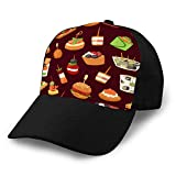 Unisex Baseball Cap Trucker Hat Adult Cowboy Hat Hip Hop Snapback canapes Mini Burgers Appetizer Finger Food with Men Women Hat
