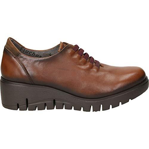 Zapatos fluchos f0698 señora Marron