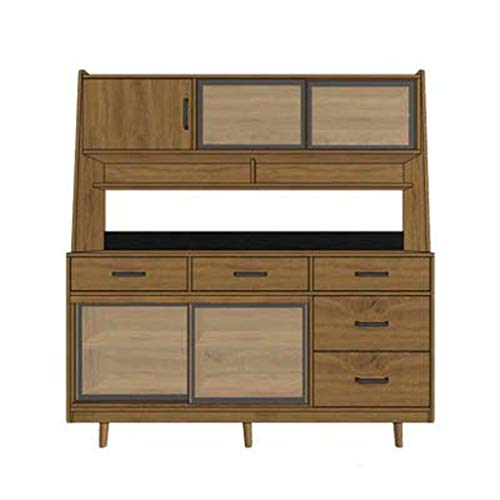 Aparador de madera maciza de alta Gabinete de lujo con puerta a la medida del gabinete de cocina moderna minimalista de almacenamiento del gabinete del LED Nuevo Periodo de china,160*45*170cm