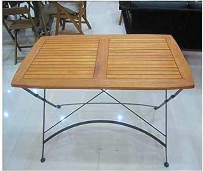 Amicasa Tavolo da Giardino Pieghevole in legno Rettangolare 120x70 cm Vigo