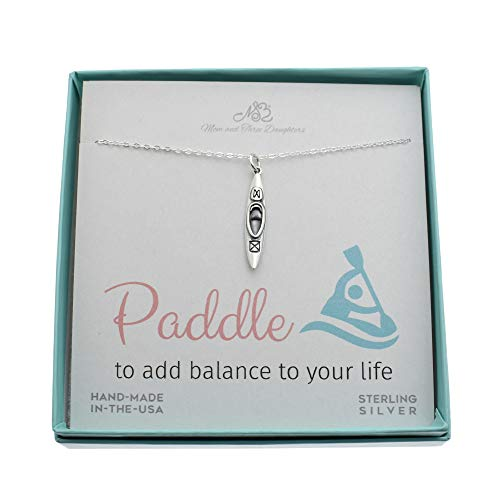 Paddle To Add Balance To Your Life Canoe Pendant Necklace