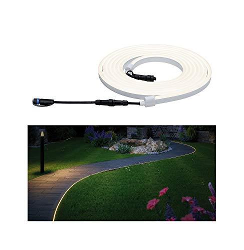 Paulmann 94191 Plug & Shine LED Außenleuchte flexible Neon Stripe incl. 1x31 Watt IP67 dimmbar Außenbereich Weiß Gartenleuchte Kunststoff Gartenlicht 3000 K