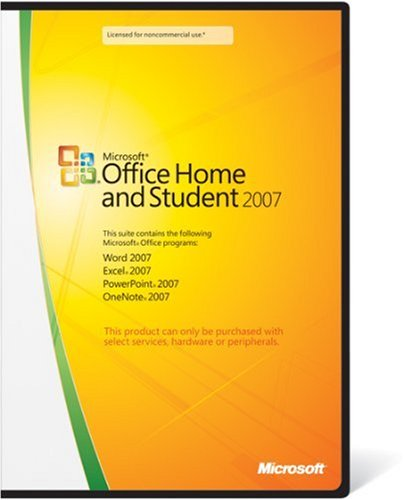 Microsoft Office 2007 Home and Student Edition--for purchase with PC Hardware only, 3 Users (PC)