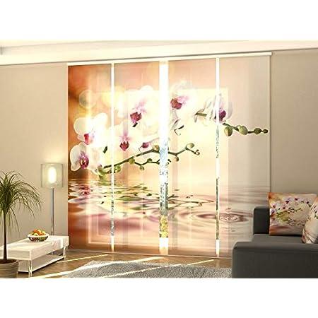 Fotodruck Wellmira Fotogardine 4 x 145x40 Gardine mit Motiv Schiebevorhang Bedruckte Schiebegardinen auf Ma/ß Fl/ächenvorhang