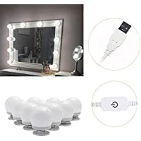 Kit de luces de espejo de estilo Hollywood, luces LED de vanidad, luz de espejo regulable, tira de luz de maquillaje para tocador, baño, paredes decorativas, CRI > 90