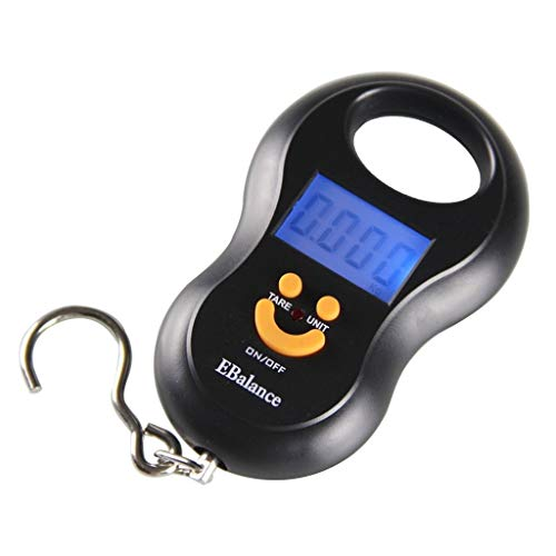 WCX Digital Baggage Scale Tare Function, Portable Suitcase Weighing Travel With Hook, 110lbs/50kg (Size : 120x73x22mm)