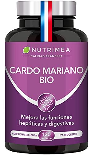 Cardo Mariano 100% Orgánico | 900mg Por Día Detox y Protección Hígado Antioxidante Facilita Digestión | 120 Cápsulas Veganas | Sin Aditivos Natural | Fabricado en Francia