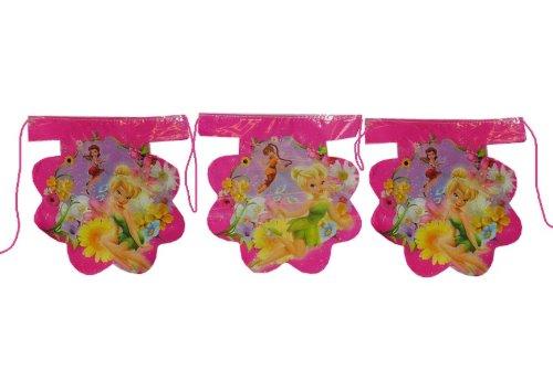 alles-meine.de GmbH 3,3 m Girlande Disney Tinkerbell Fairies Kinder Kindergeburtstag Party Deko Wimpelkette Fairy Fee