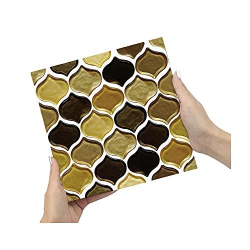 ZSFBIAO Adhesivo para Azulejos Pegatinas de Baldosas Autoadhesivo Adhesivo Decorativo para Decorar Azulejos Muebles Cocina Baño (Size:20cm*20cm,Color:40pcs)