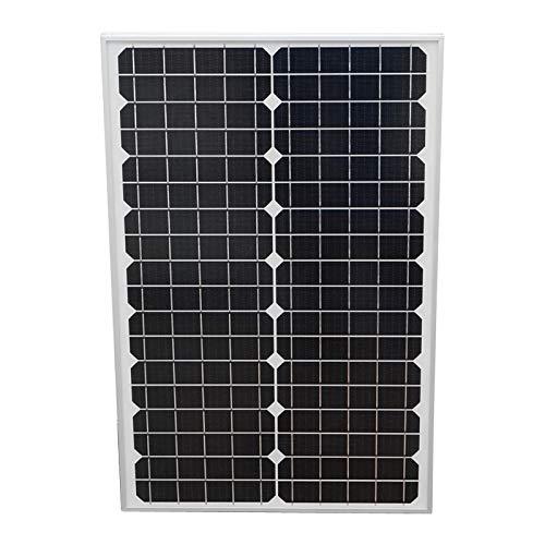 Pannello solare fotovoltaico monocristallino 30W con cavo di collegamento e tensione massima 18V 535x350x25mm Breckner